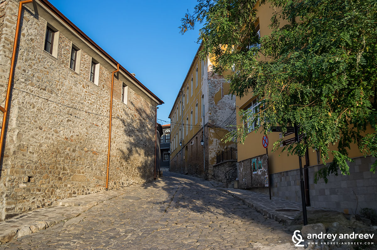 Cosy streets in the Old town of Plovdiv