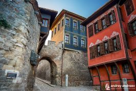 Едно от най-известните места в България, Хисар Капия, къщата на Димитър Георгиади и Куюмджиевата къща , Старият град на Пловдив The old town of Plovdiv, Bulgaria