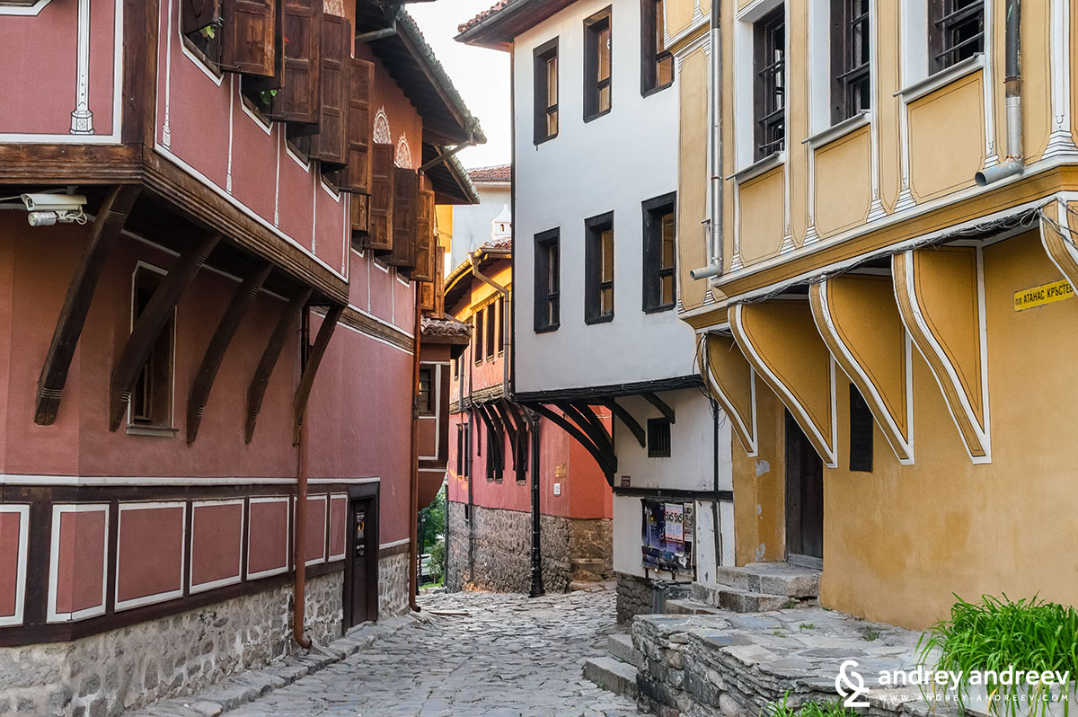 Beautiful old houses in the Old Town of Plovdiv - one of the best Plovdiv attractions