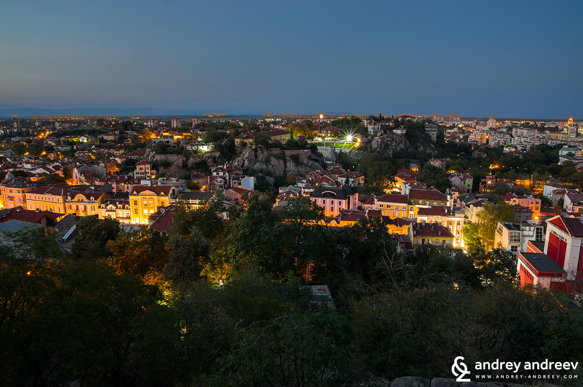 A view to Plovdiv from Danov hill