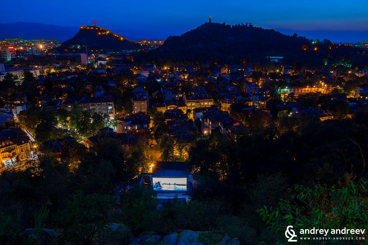 Summer cinema in Plovdiv Bulgaria