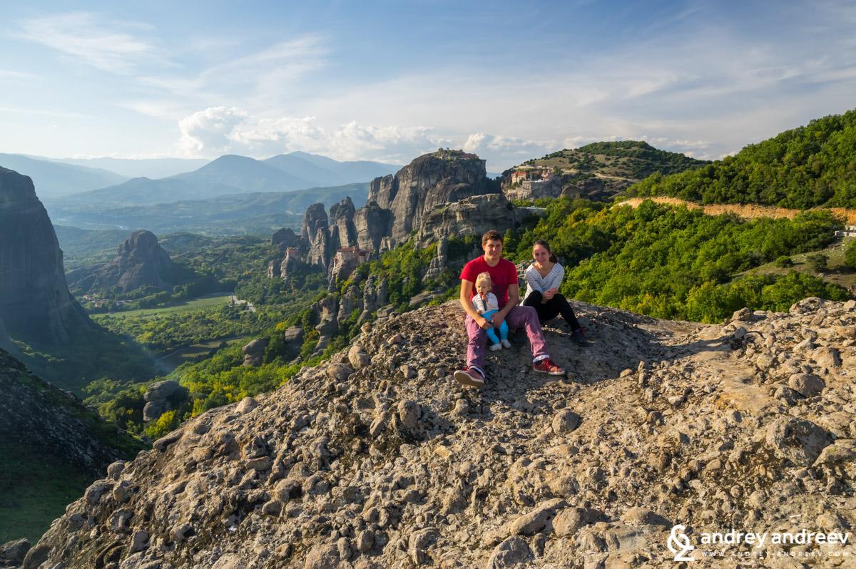 On the Meteora's rocks
