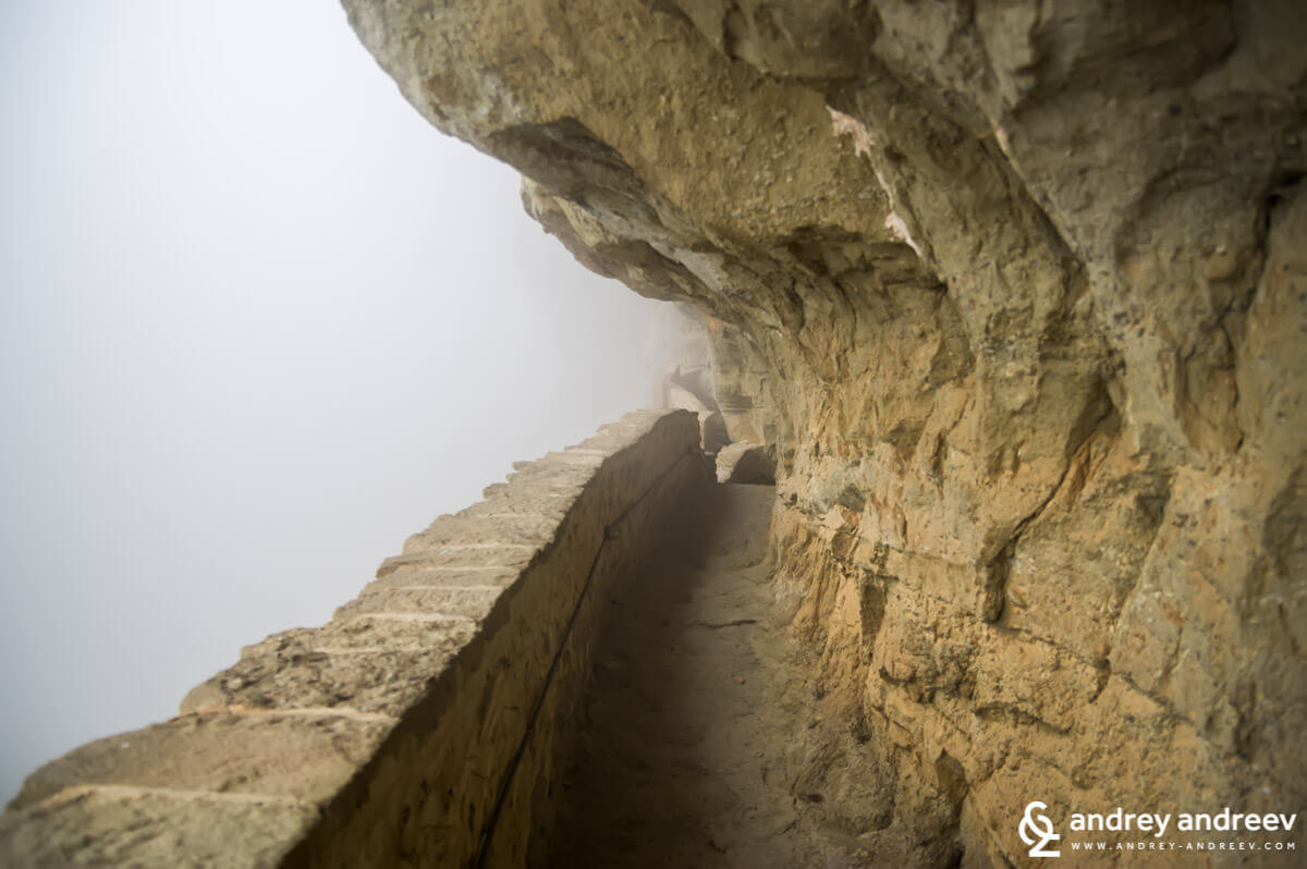 The path to Monastery Holy Trinity, Meteora in Greece