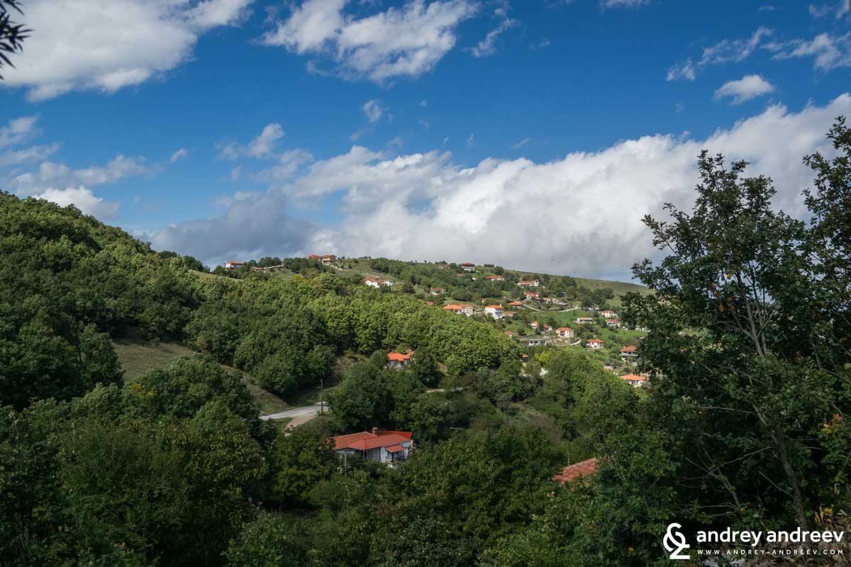 Vlachava village nearMeteora in Greece