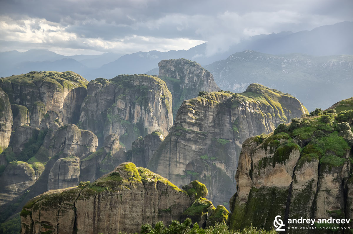 The rocks of Meteora in Greece