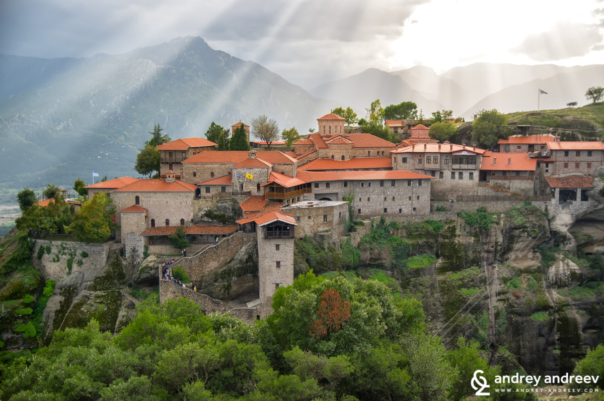 Големият Метеор част от манастирите на Метеора в Гърция