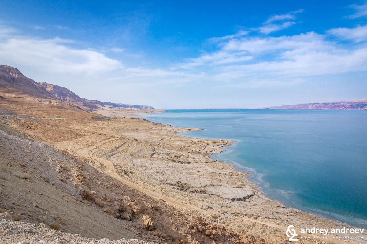 брегът на северната част на Мъртво море