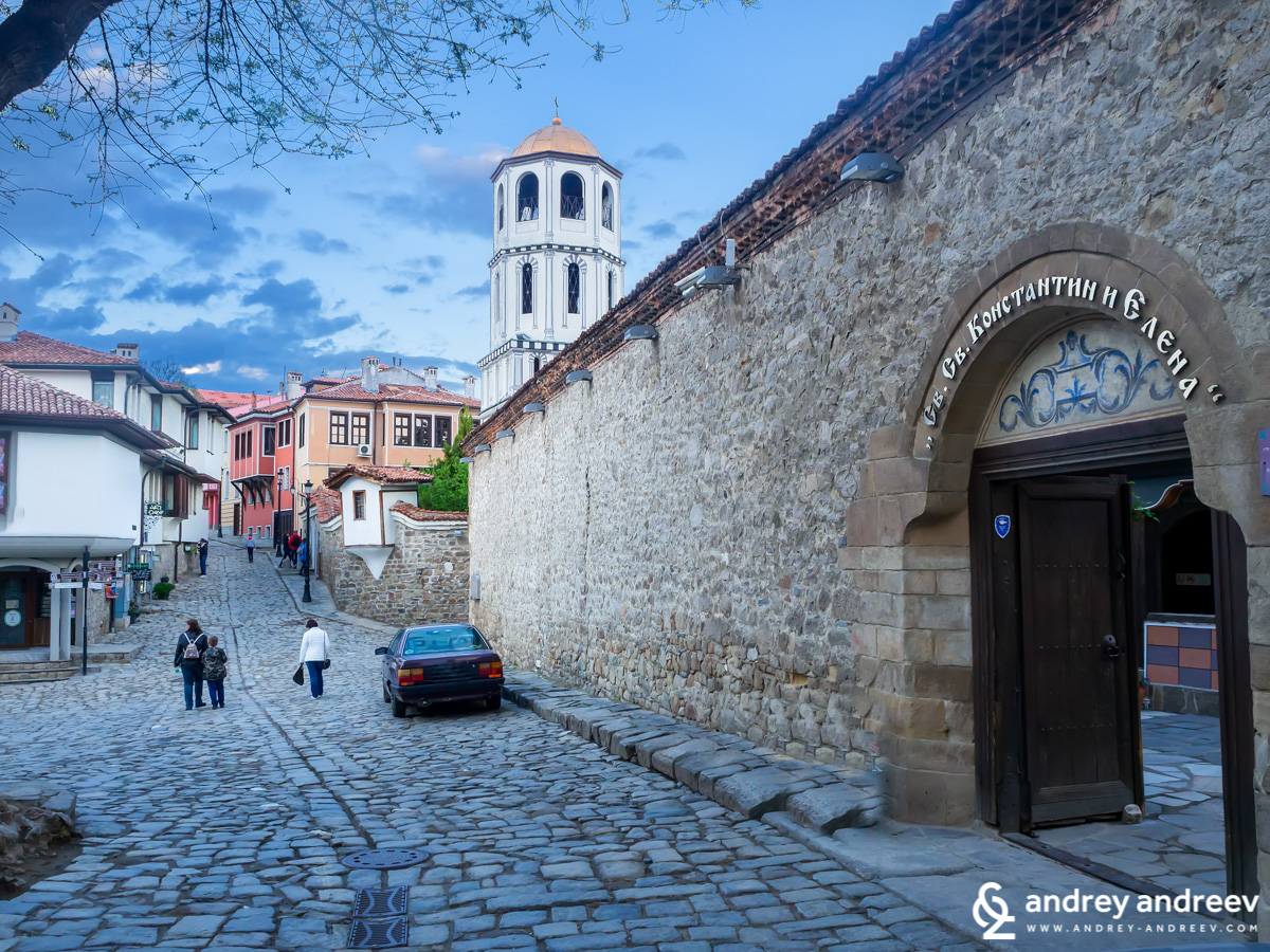 Plovdiv Old town with St. Constantine and Helena church