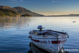 Лодка в охридското езеро