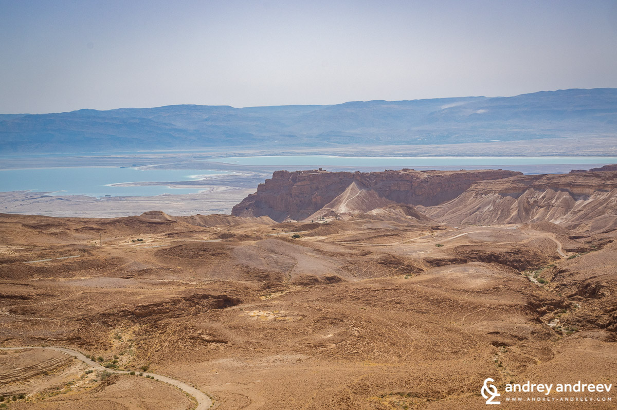 A view to Masada and Dead Sea