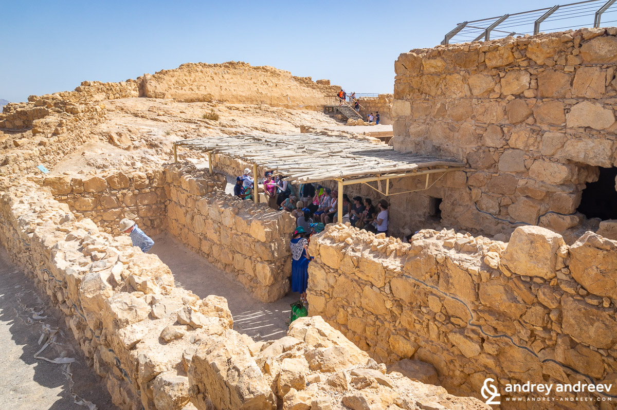 A shelter for tourists at Masada fortress