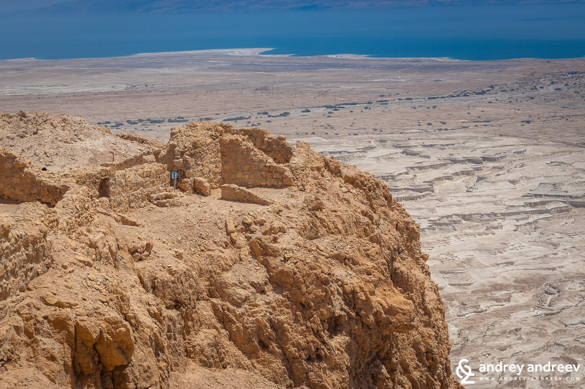 View from Masada of Dead Sea