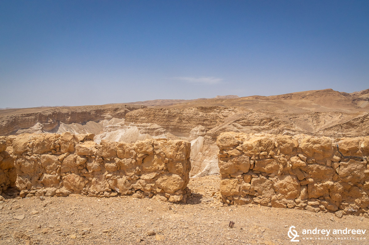 The ruins of Masada fortress in Israel