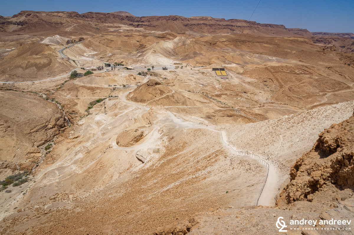 The western parking lot of Masada fortress