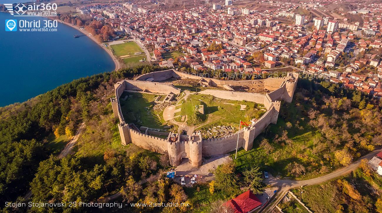 Самуилова крепост гледана от въздуха, снимка на Стоян Стояновски