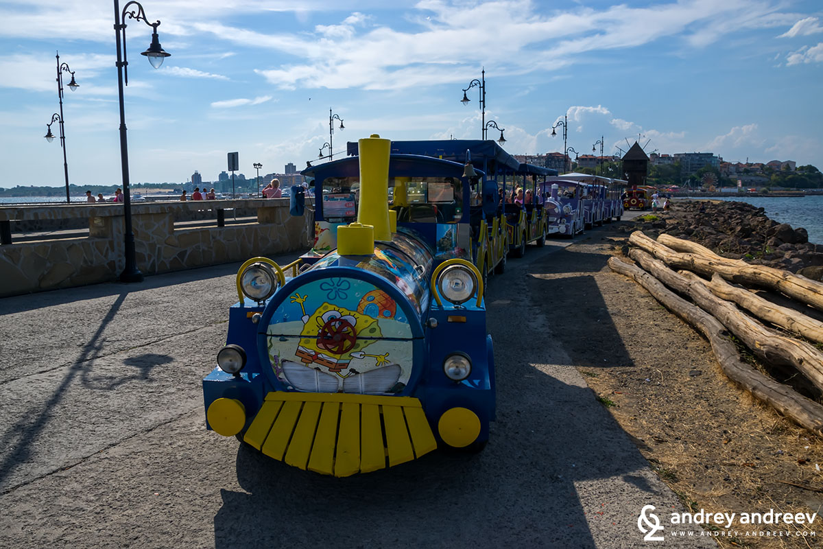 Tourist train in Sunny Beach