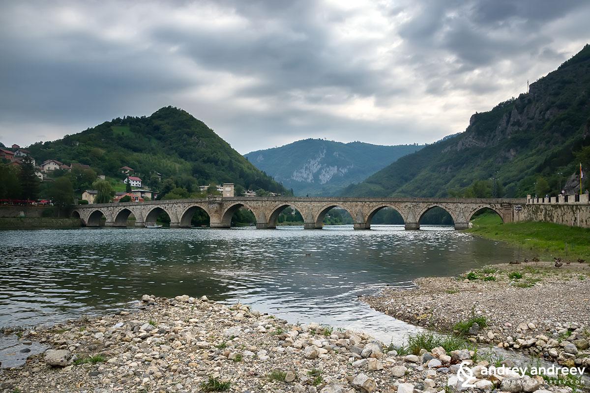 The bridge on Drina, Visegrad, Bosnia and Herzegovina