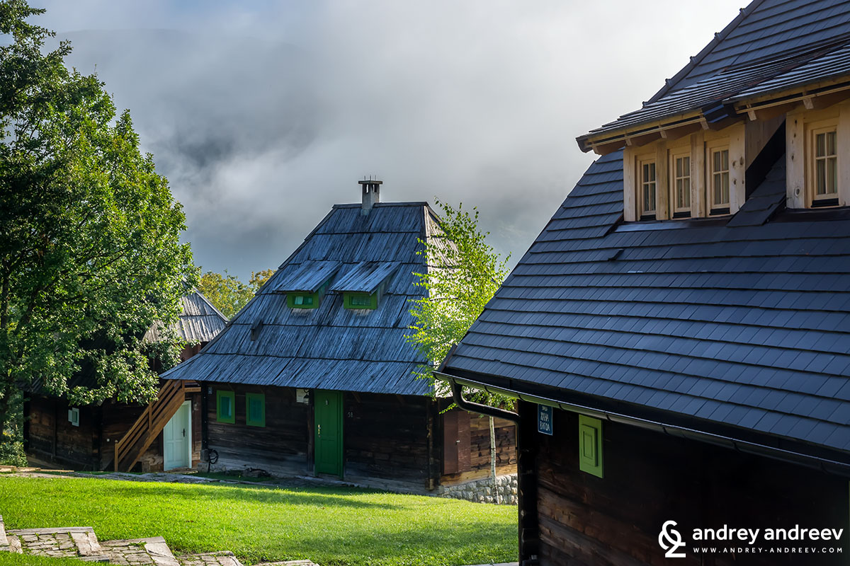 The beautiful wooden houses