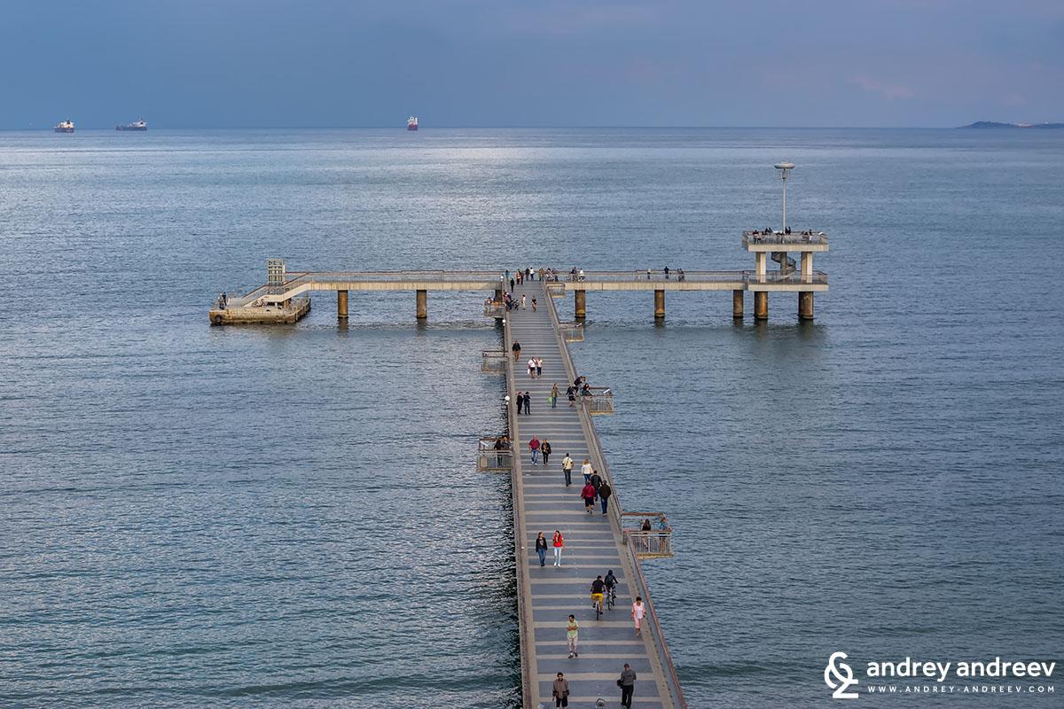 Burgas pier, Bulgaria