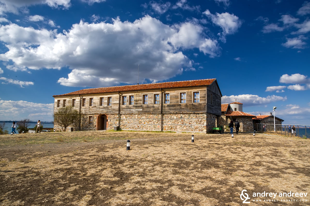 The old monastery building at St. Anastasia island