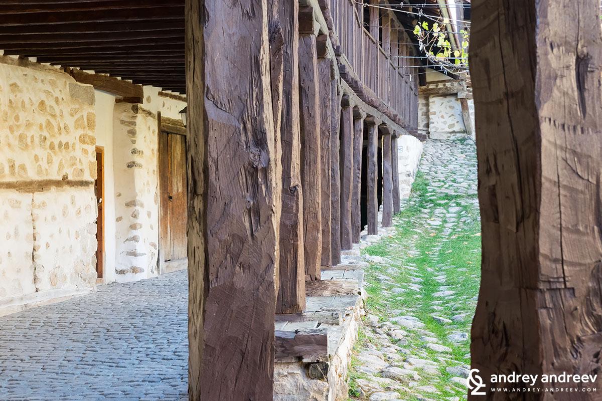 The yard of Rozhen monastery