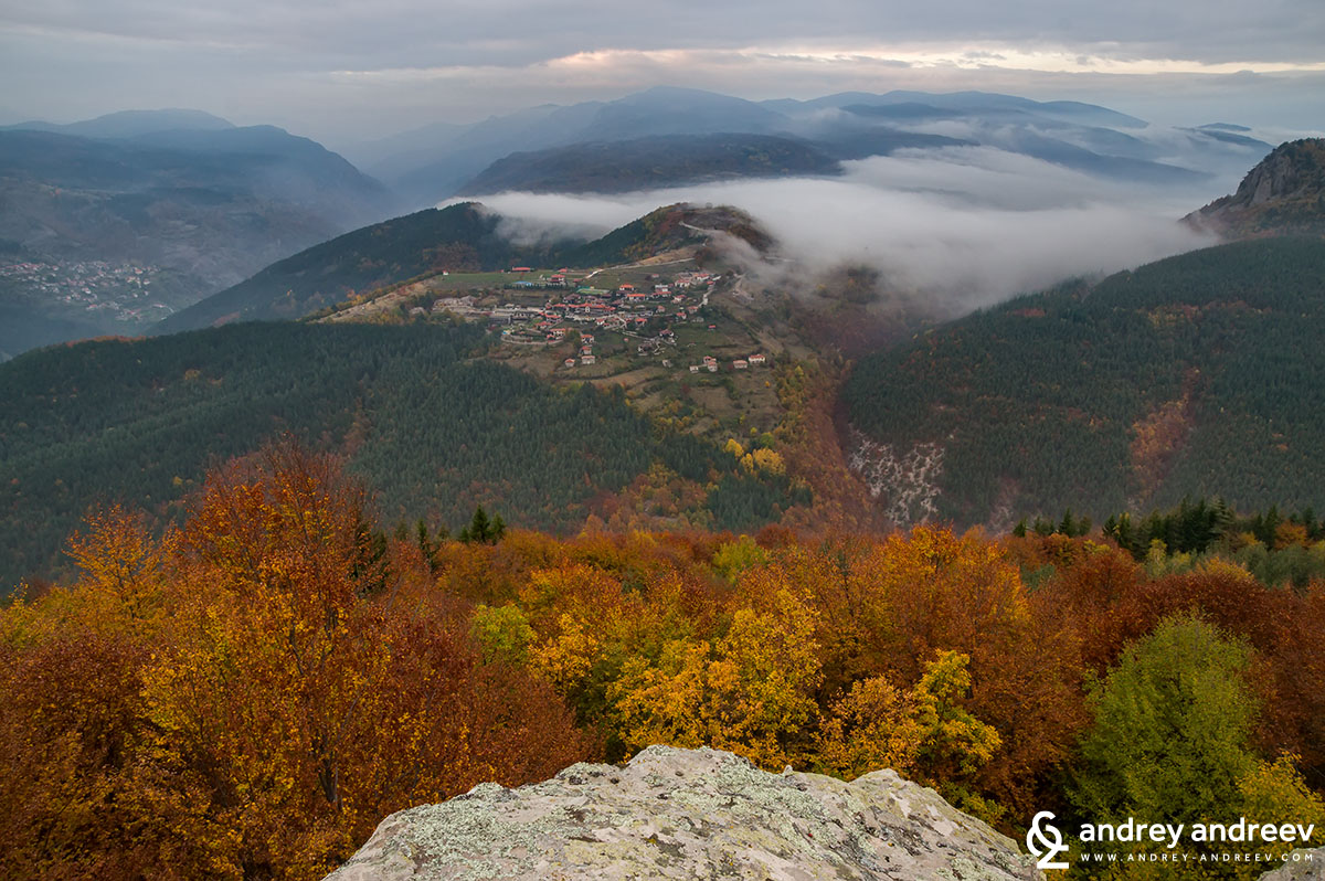 View towards Vrata village and the mysterious fog around Belintash