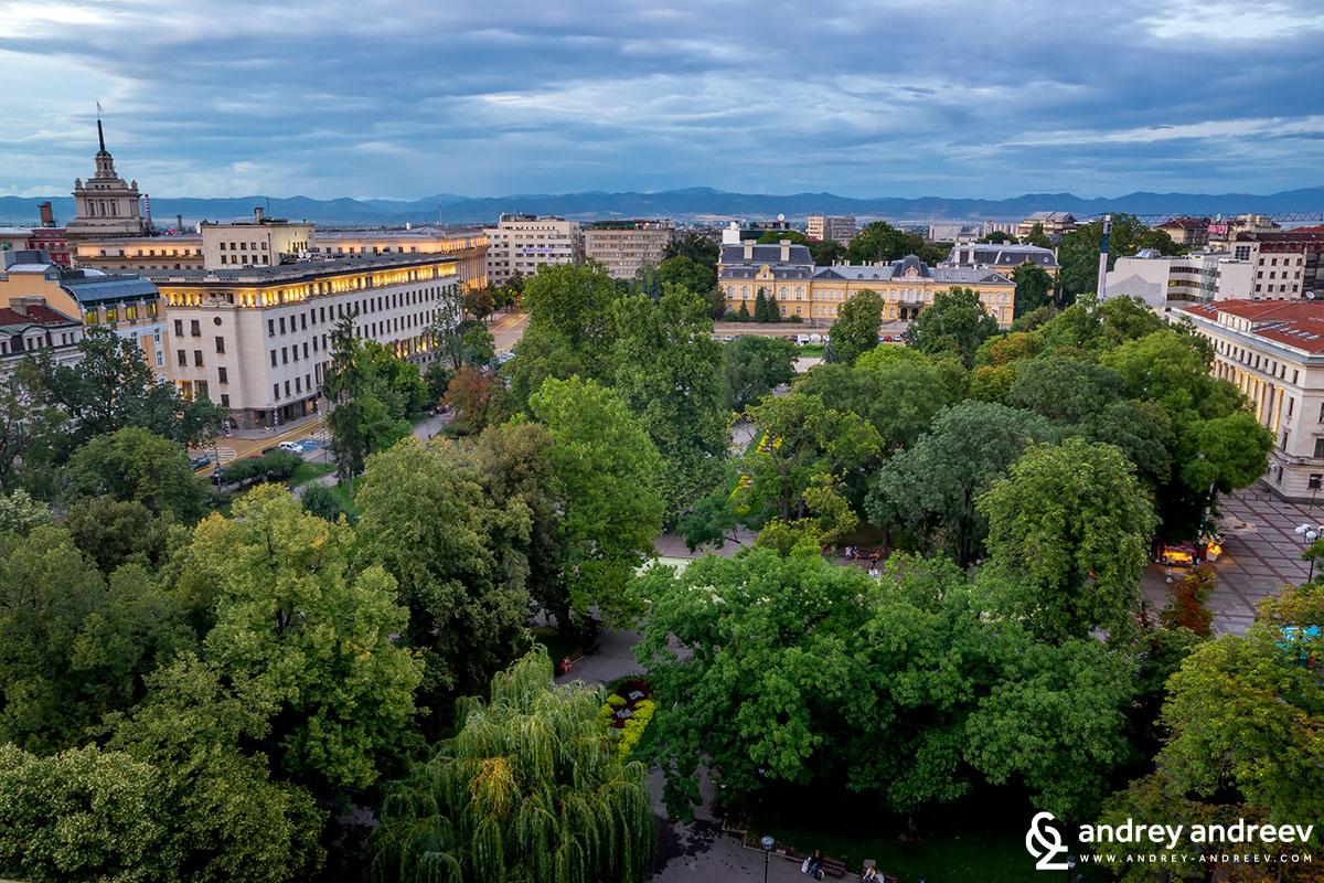 View ot the City Garden in Sofia