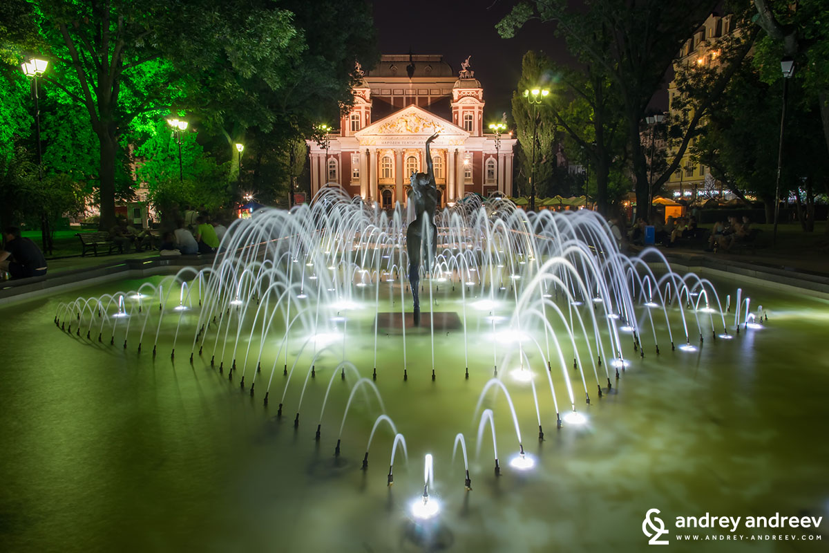 National Theatre Ivan Vazov in Sofia, Bulgaria