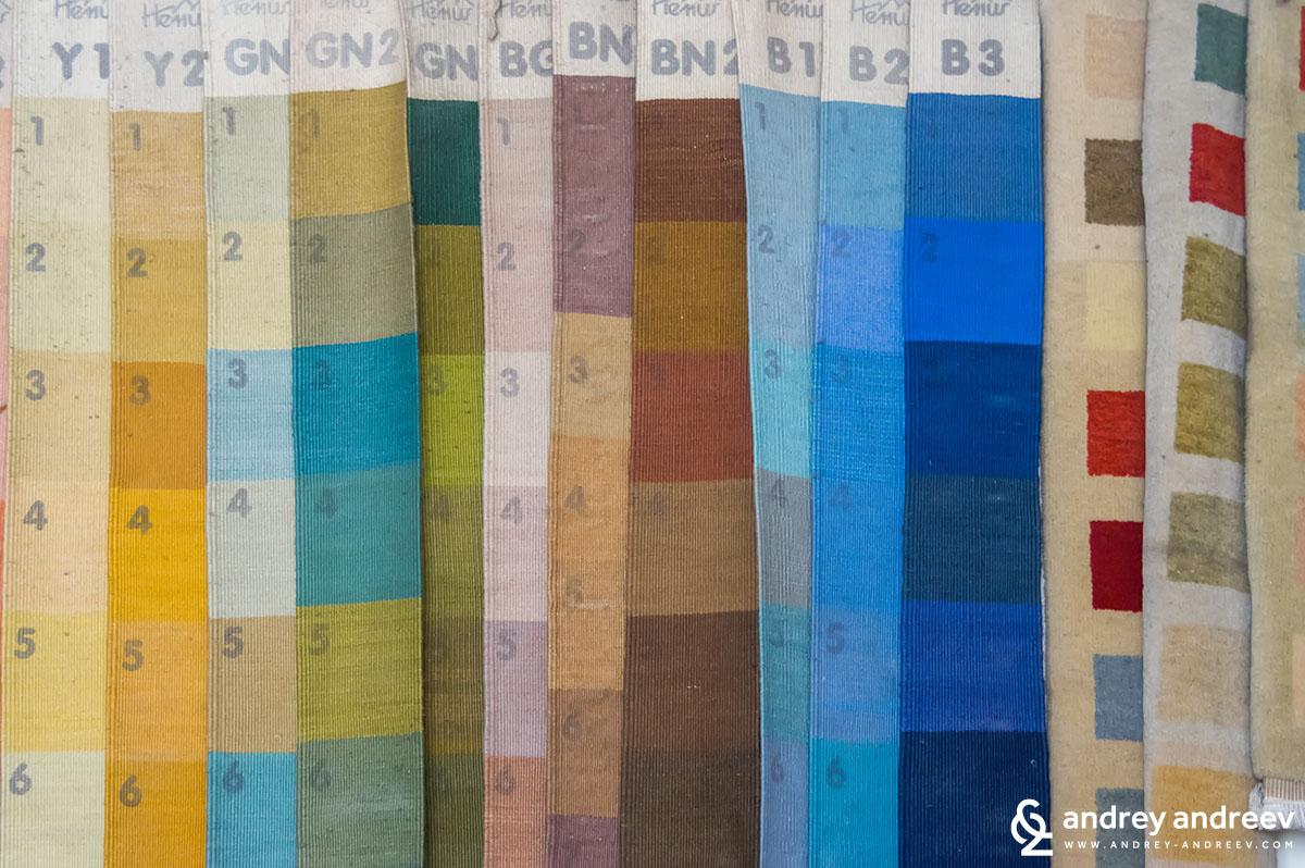 Цветовете на килимите в Костандово