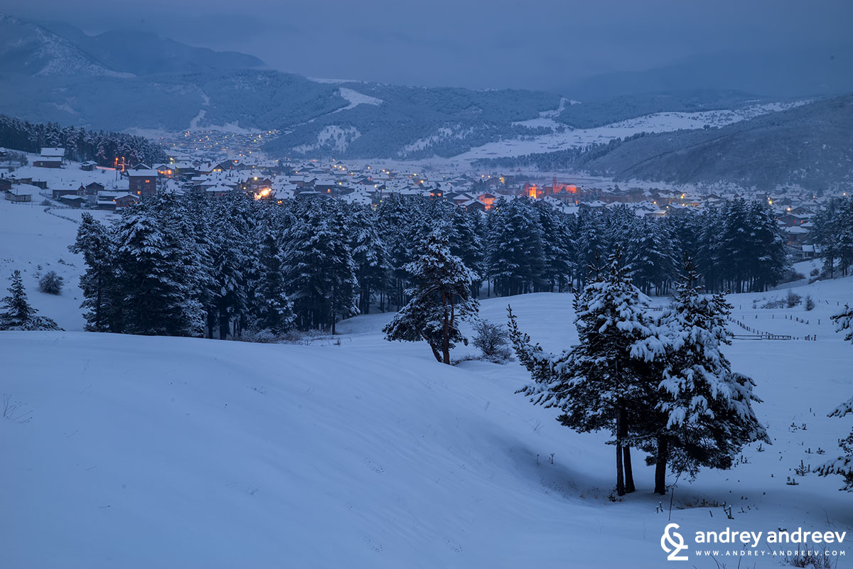 Velingrad at night