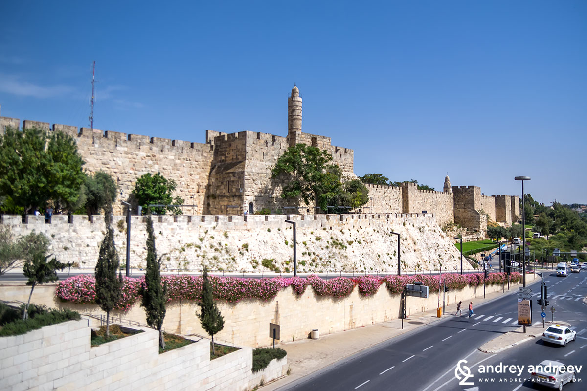 The fortification walls of Jerusalem