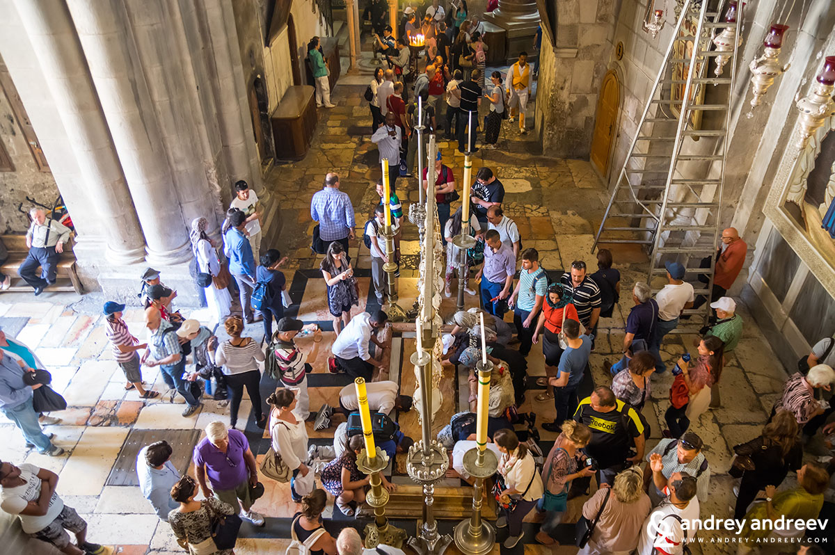 The Stone of Anointing, Church of the Holy Sepulchre, Jerusalem