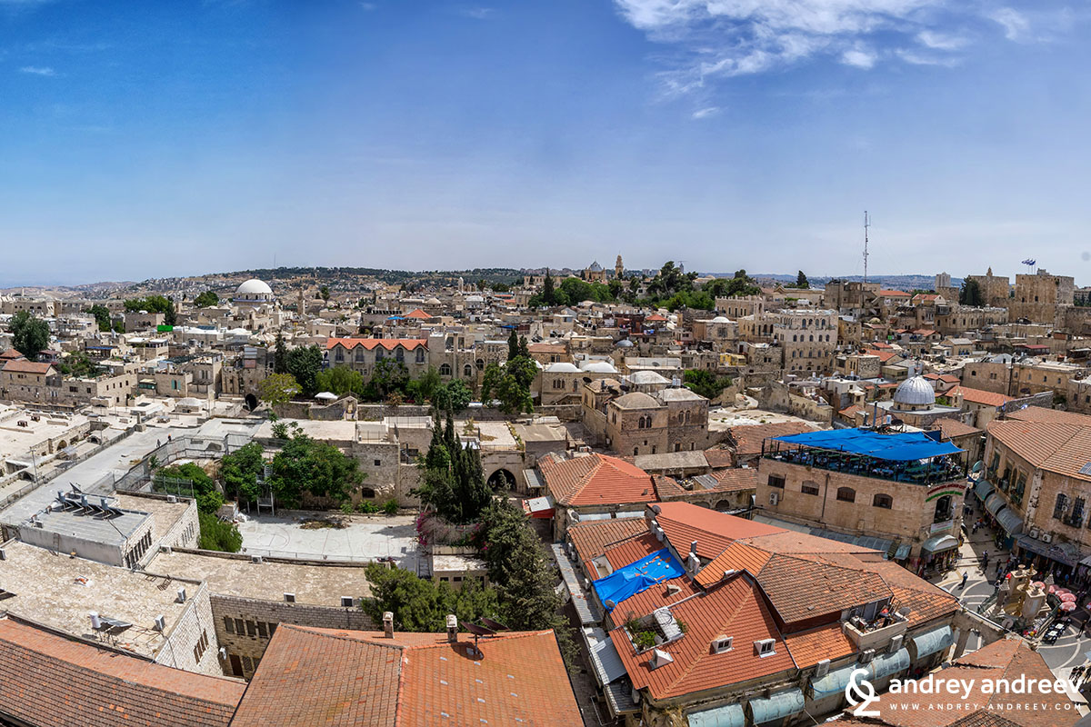 View to Jerusalem from the Church of the Redeemer