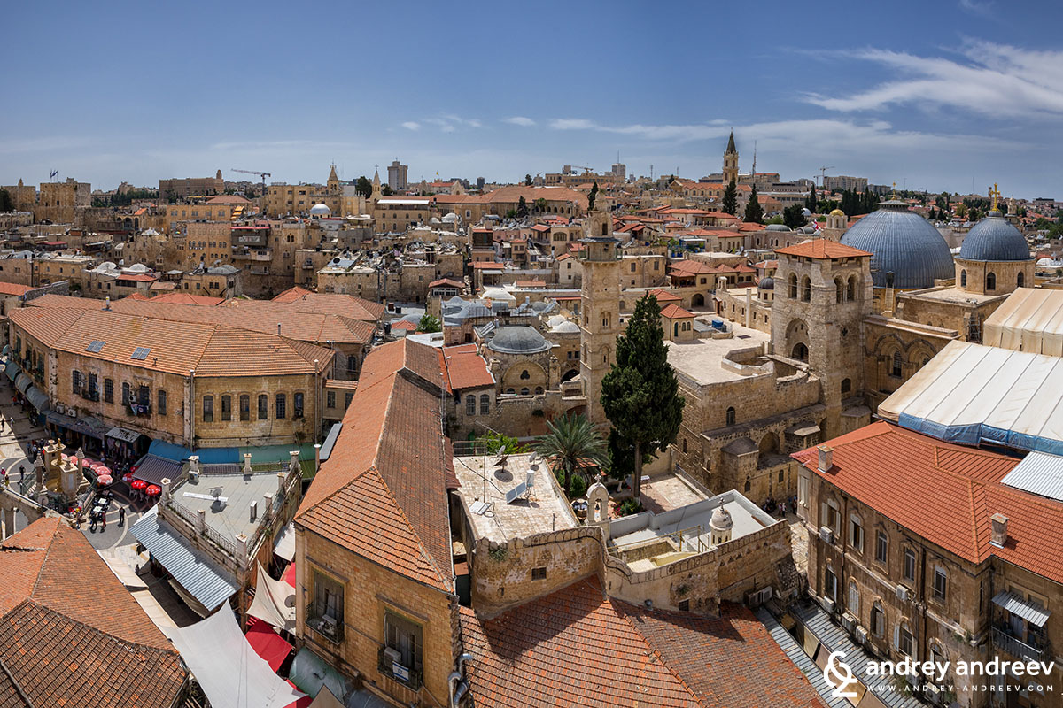 View to Jerusalem from the Church of the Redeemer 3