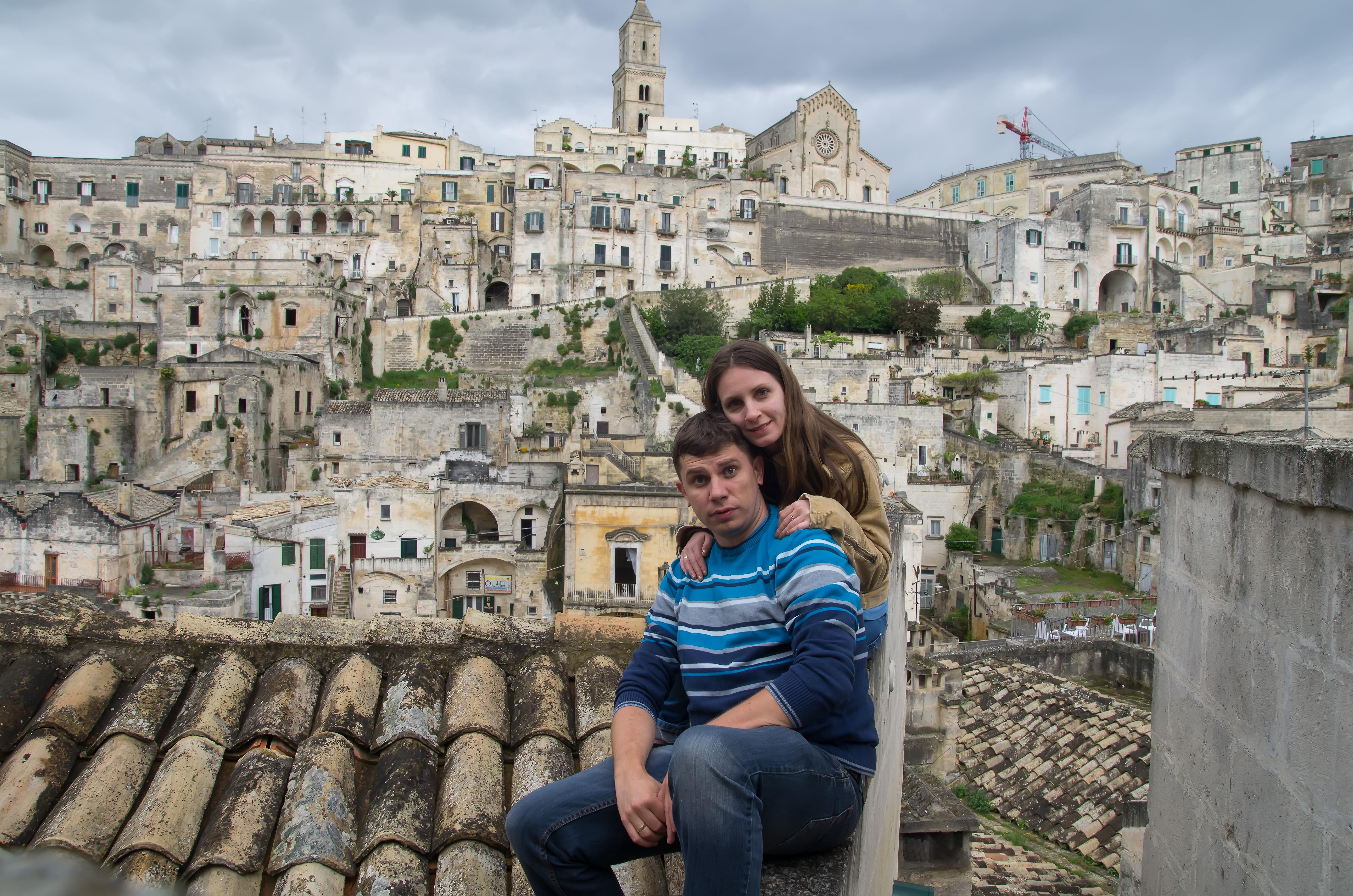 Андрей и Мими в Матера