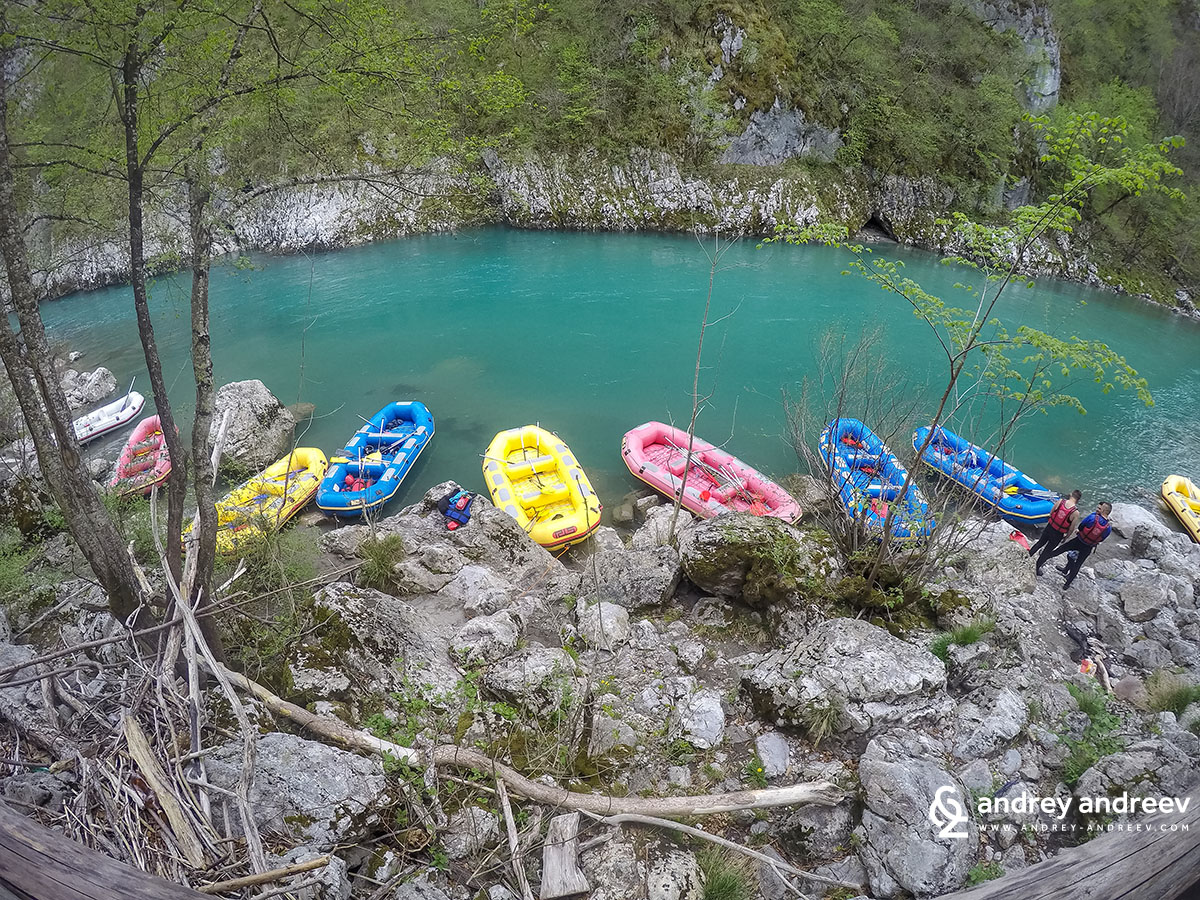 Rafting boats on Tara river