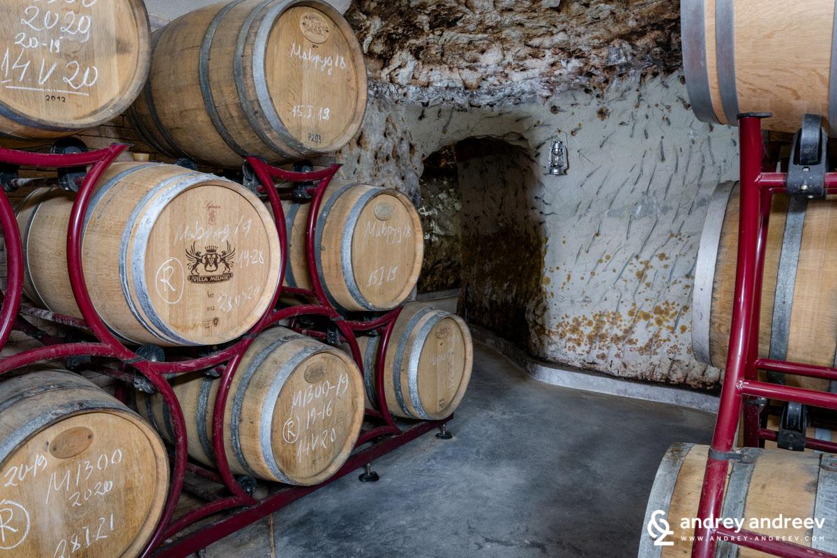Villa Melnik cellars