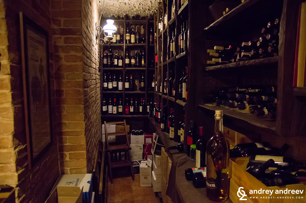 The winery at Pizzeria Belle Arti