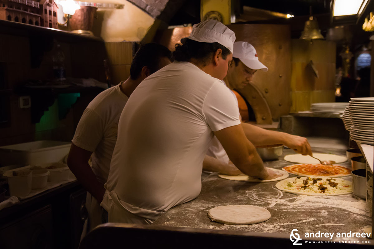 The pizza guys in Belle Arti