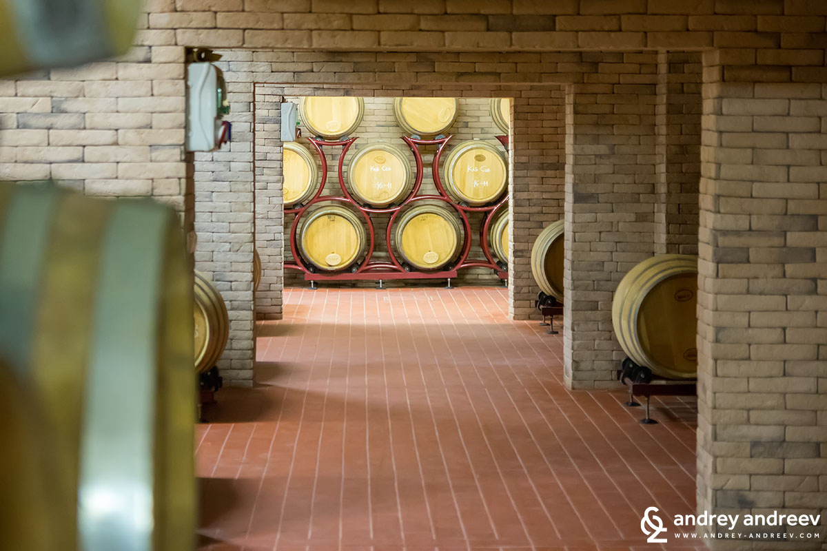 Villa Melnik wine cellar Bulgaria
