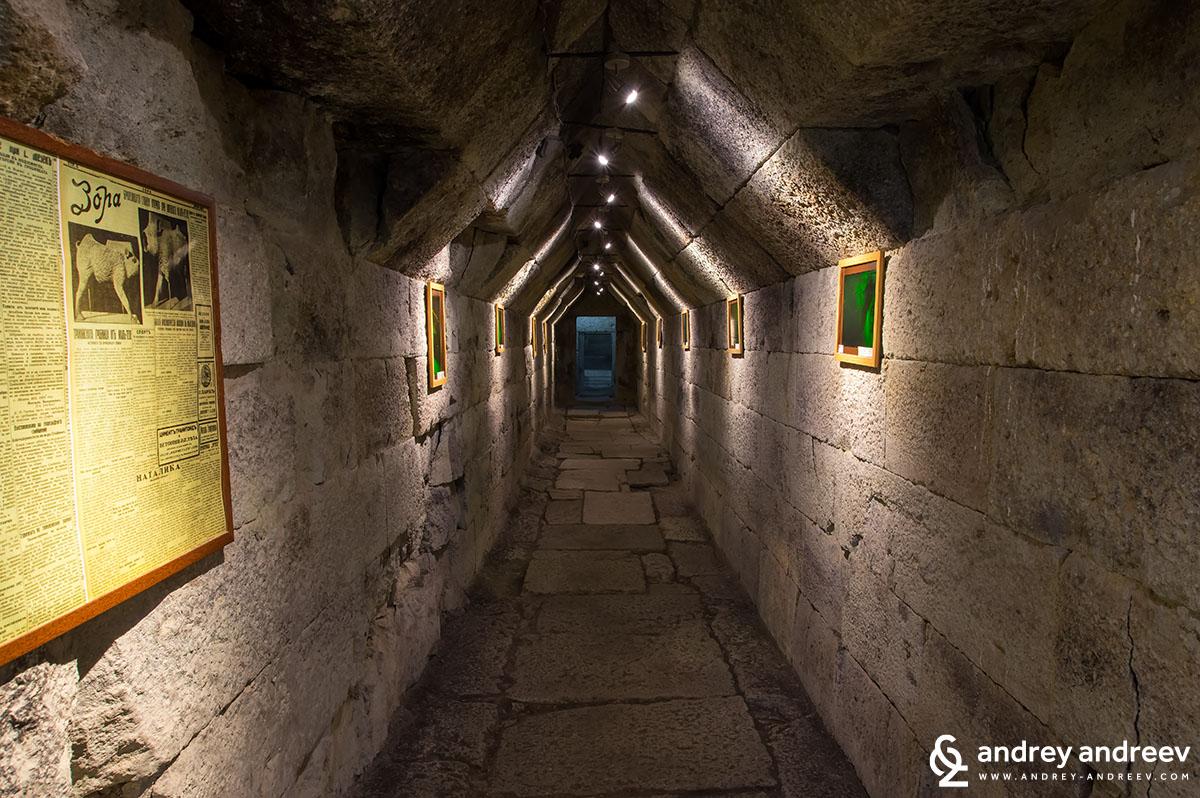 Inside the Mezek Thracian tomb