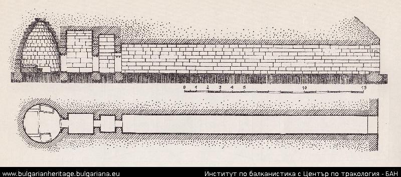 Mezek Thracian tomb - a sketch
