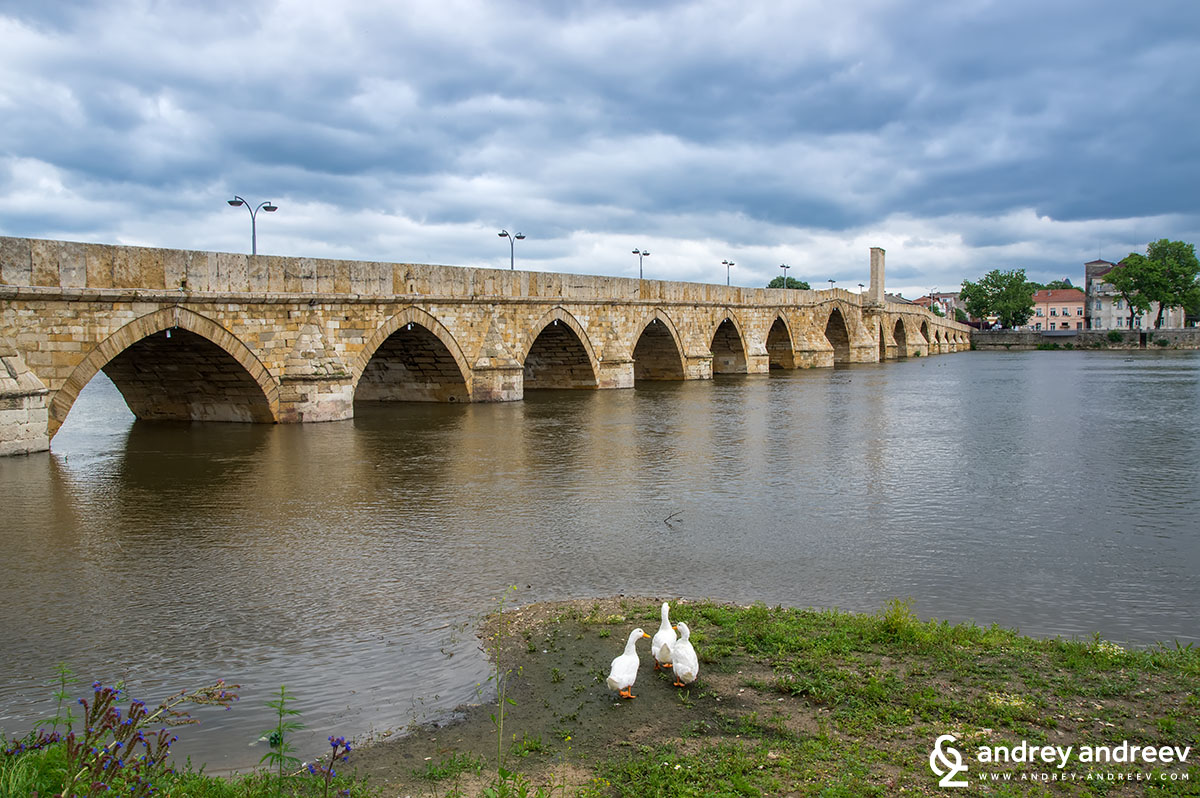 Mustafa Pasha bridge on Maritsa river, Svilengrad, Bulgaria
