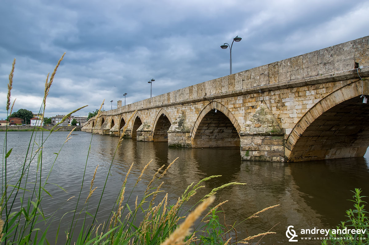 The old ottoman bridge in Svilengrad, Bulgaria