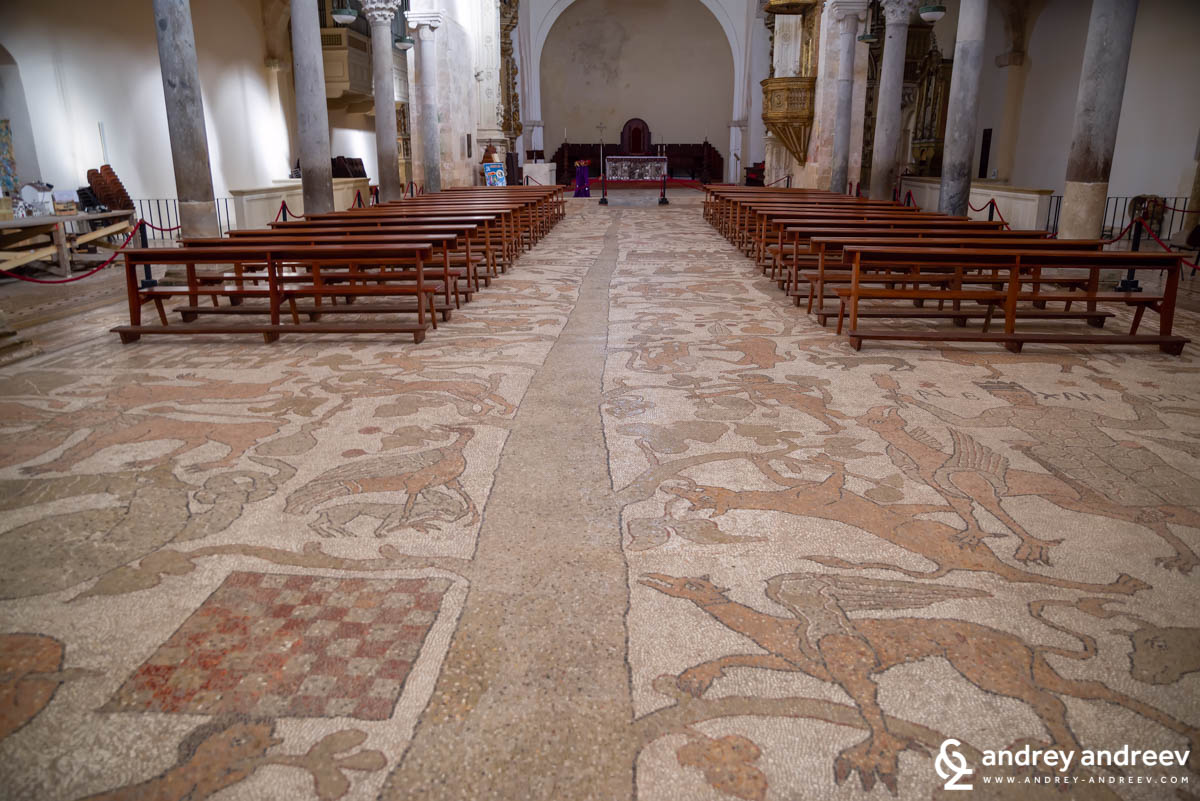 Beautiful mosaics on the floor of the Otranto cathedral, Salento, Puglia, South Italy
