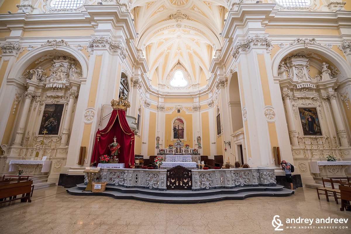 Church of the Nativity of the Blessed Virgin Mary in Tricase, Salento, South Italy