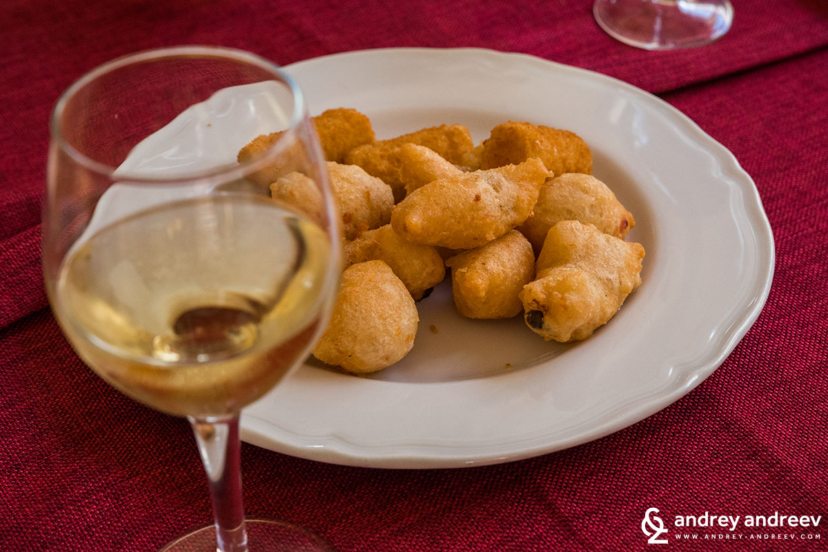 Potato balls in Salento, Italy