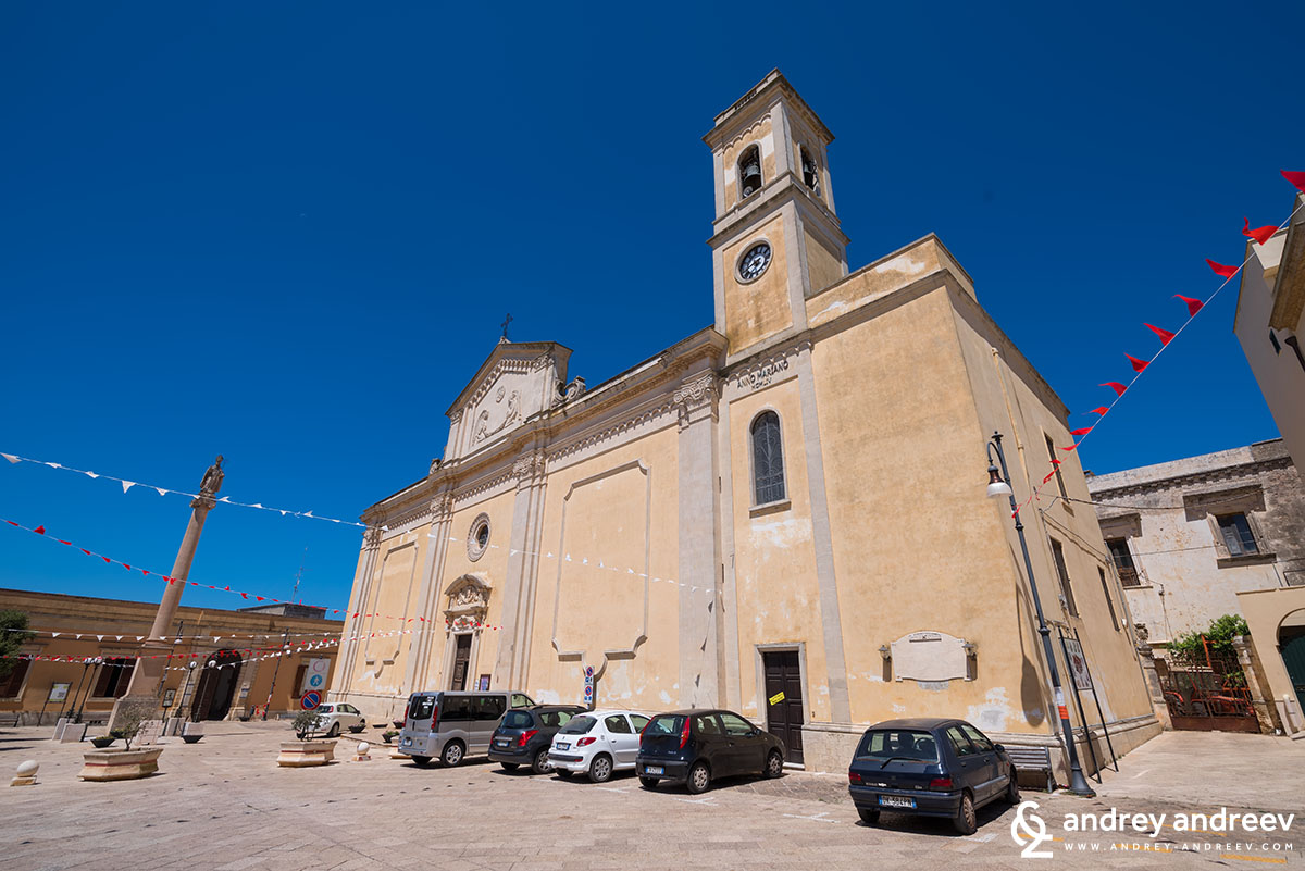 The central square of Salve, Southern Italy