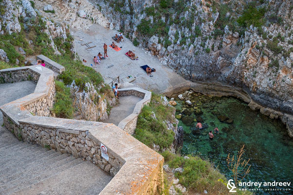 The beach Ciolo