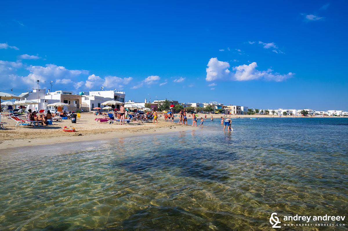 Плажът Торе Пали, Саленто, Южна Италия